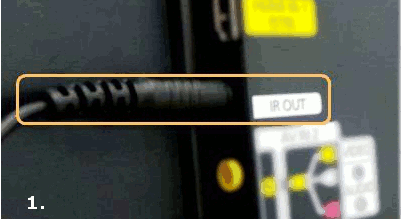 IR Extender Cable Cable connection
