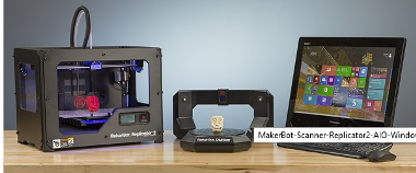MakerBot Digitizer Desktop 3D scanner, Windows 8.1 PC