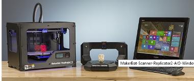 MakerBot Digitizer Desktop 3D scanner, Windows 8.1 PC