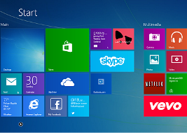 Start Screen of windows 8.1