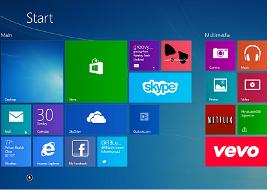 Start Screen of windows 8.1