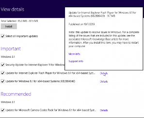 windows 8.1 Updates View