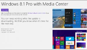 Windows 8.1 download option