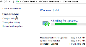 Windows 8 checking Update