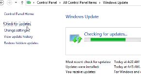 Windows 8 checking Update