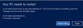 windows 8.1 restart option